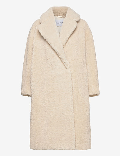 Nicole Coat - faux fur - off white