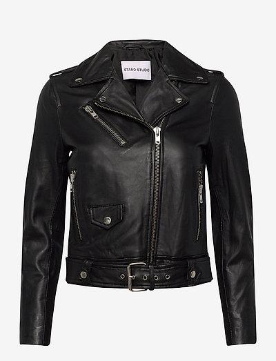 Polly Biker - leather jackets - black