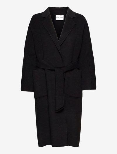 Claudine Coat - ullkappor - black