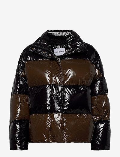 Alicia Jacket II - down- & padded jackets - black/dk khaki