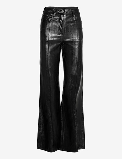 Reese Pants - leather trousers - black