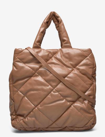 Assante Diamond Bag - shoppers - nougat