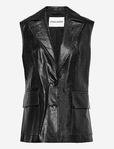 Melba Vest - puffer vests - black
