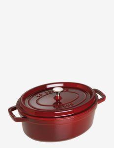 La Cocotte - Oval cast iron, 3 layer enamel - vuoka-astiat - grenadine