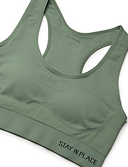 Stay In Place - Rib Seamless Bra - urheiluliivit: medium tuki - aloe green - 3