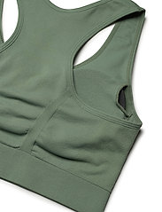 Stay In Place - Rib Seamless Bra - urheiluliivit: medium tuki - aloe green - 4
