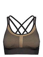 Seamless Strap Sports Bra - BOLD BLONDE