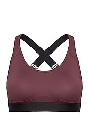 Padded Crossback Bra - PLUM POUT