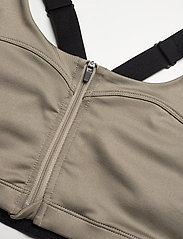 Stay In Place - Front Zip Sports Bra - sort bras:high - martini olive - 2