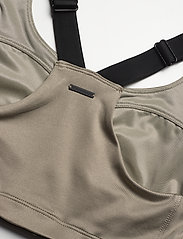 Stay In Place - Front Zip Sports Bra - sort bras:high - martini olive - 3