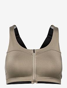 Front Zip Sports Bra - sort bras:high - martini olive