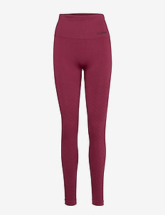 Seamless Tights - running & training tights - ruby veil