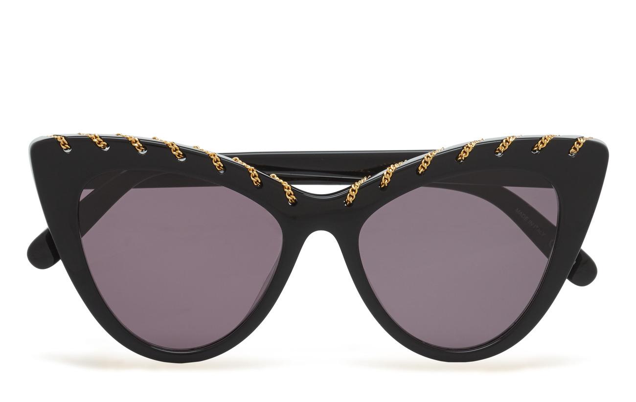 Stella McCartney Eyewear SC0163S - BLACK-BLACK-SMOKE