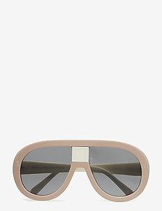 SC0032S - okulary przeciwsłoneczne aviator - pink-beige-silver