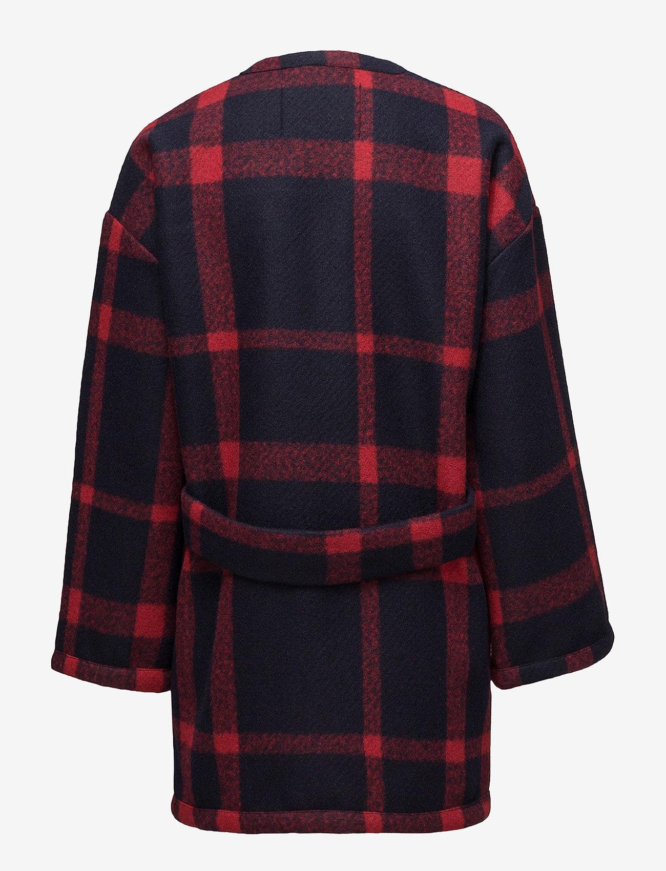 Stella Nova Cozy Coat - Jackets & Coats BLUE RED