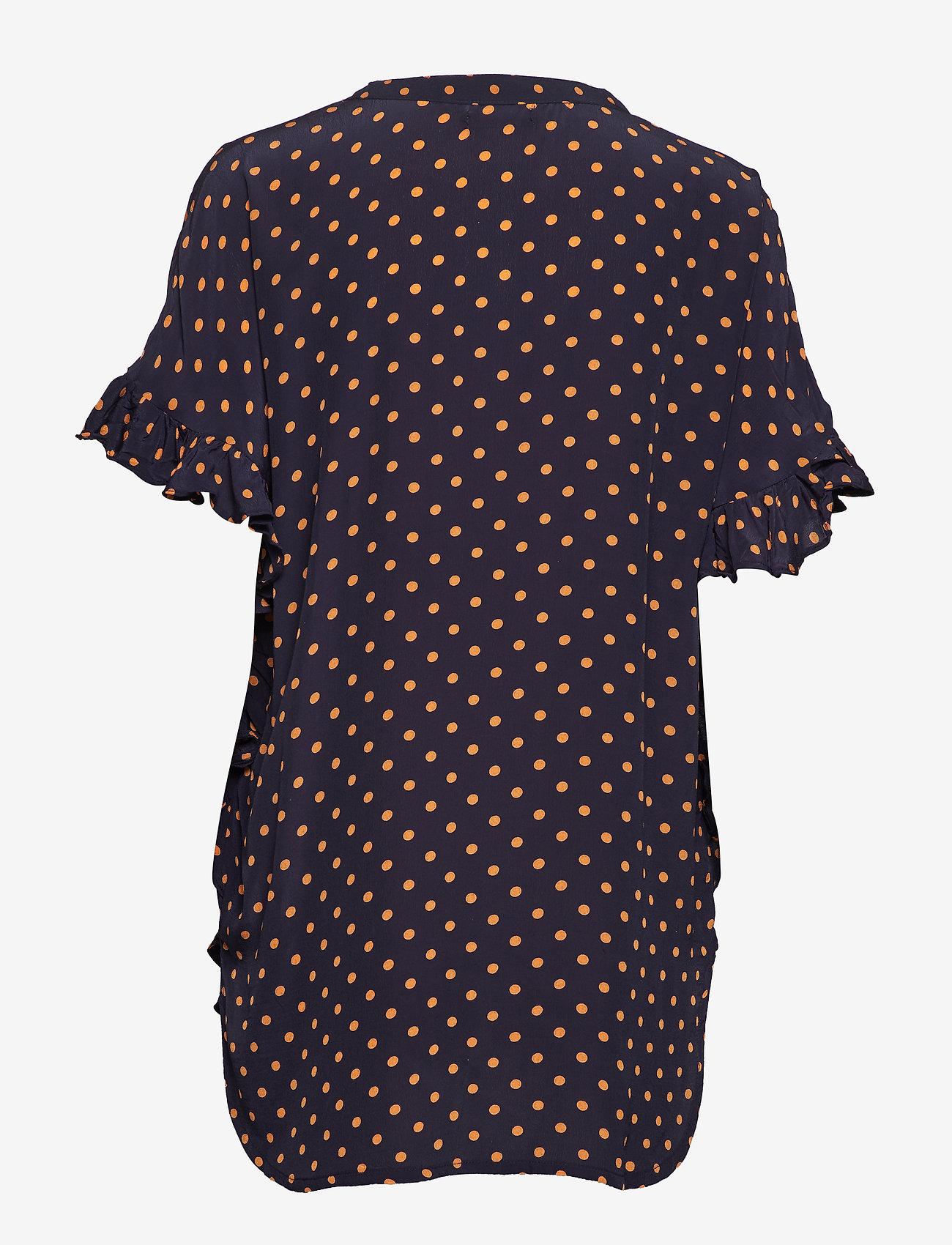 Stella Nova - Viona - blouses à manches courtes - navy orange