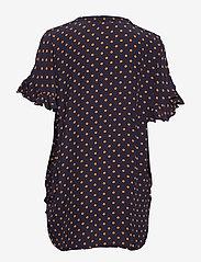 Stella Nova - Viona - blouses à manches courtes - navy orange - 1