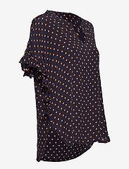 Stella Nova - Viona - blouses à manches courtes - navy orange - 3