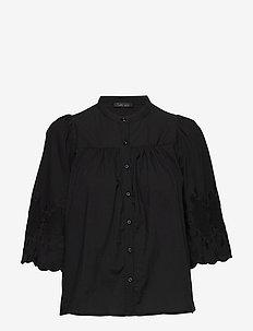 Loui - langärmlige blusen - black