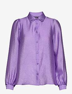 Macy - overhemden met lange mouwen - seductive purple