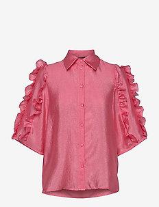 Lycie - langærmede bluser - rosebud pink