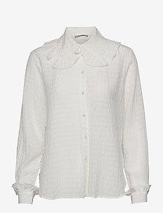 Cassie - langærmede bluser - white