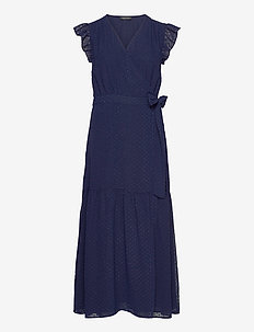 Tyra - robes portefeuille - navy