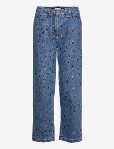 Zea - bukser med brede ben - wild cherry