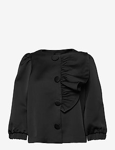 Aneta - long sleeved blouses - black