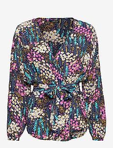 Heika - blouses med lange mouwen - sparkling flowers