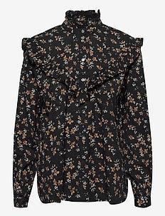 Myrtille - blouses med lange mouwen - black fall