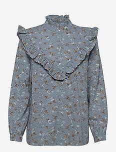 Myrtille - blouses med lange mouwen - blue fall