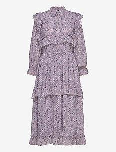 Barbara - midiklänningar - violet flower field
