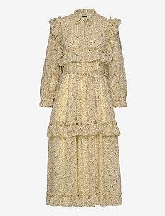 Barbara - midi kjoler - yellow flower field