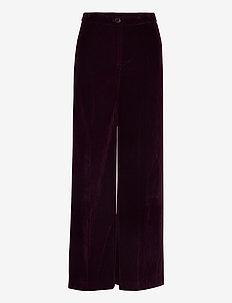 Stormy - wide leg trousers - bordeaux