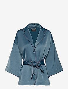 Kimono Suiting Blouse - DUST BLUE