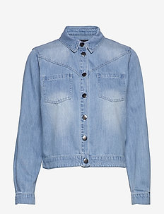 Anne - jeansjackor - washed denim