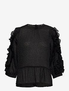 Lycie - blouses med lange mouwen - black