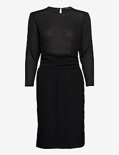 Margrit - midi jurken - black