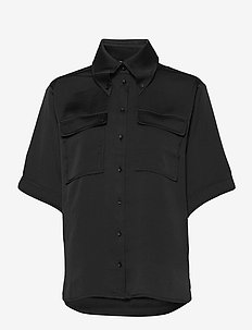 Alona - short-sleeved shirts - black