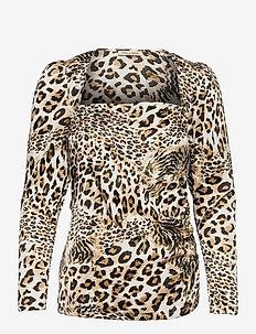Roselil - langærmede bluser - leopard