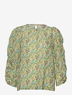 Susanne - langärmlige blusen - happy bright flowers