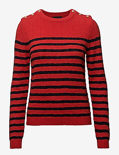 Cotton/Wool - RED/NAVY