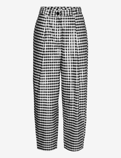 Amara - wide leg trousers - black and white