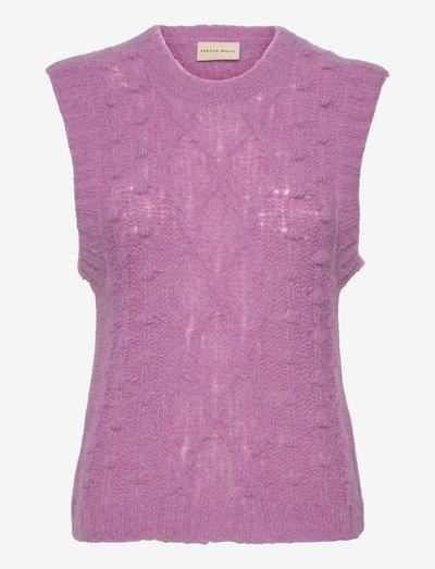 Ceci - knitted vests - mulberry