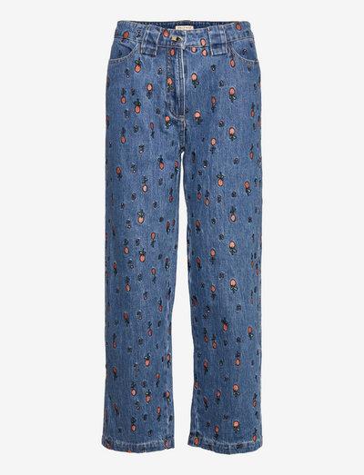 Zea - wide leg jeans - wild cherry