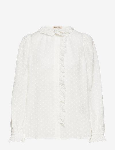 Yolonda - long sleeved blouses - white