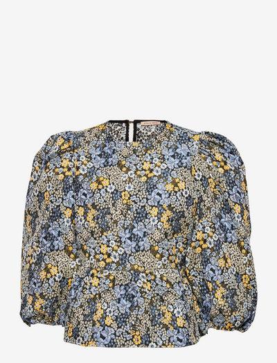Arna Lou - long sleeved blouses - flower forest