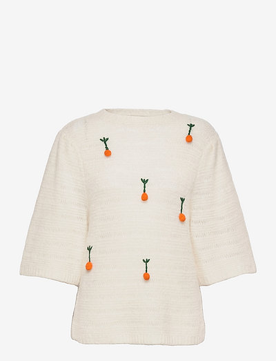 Salma - long sleeved blouses - ecru