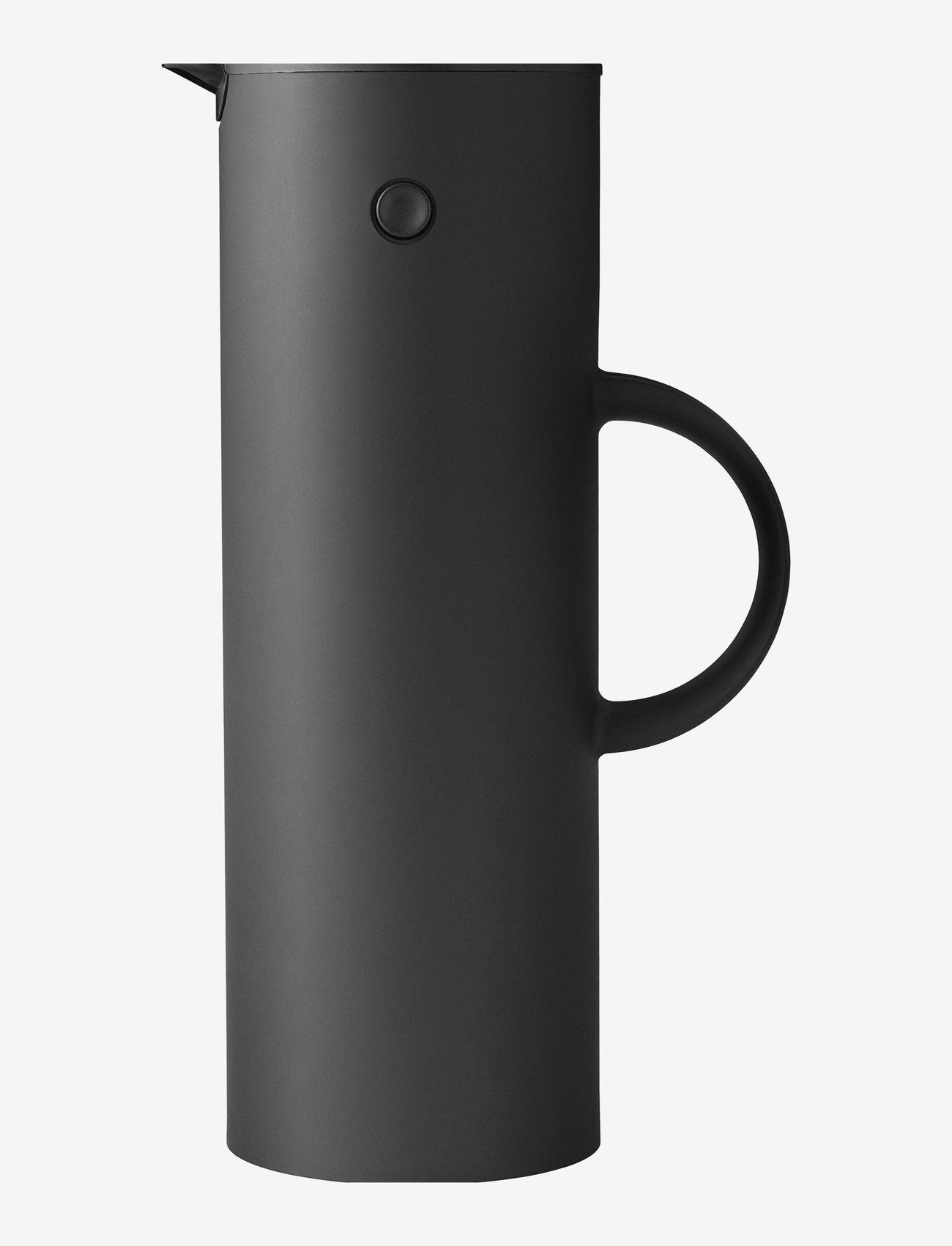 Stelton - EM77 vacuum jug, 1 l. - kannut & karahvit - soft black - 0